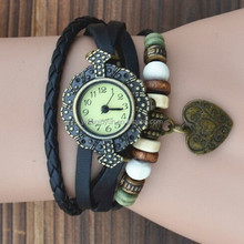 In Stock New Hot Sale Original High Quality Women Genuine Vintage vogue women watch Bracelet Wristwatches Leaf Pendant