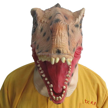 Natural Latex nontoxic eco-friendly Tyrannosaurus Halloween Mask