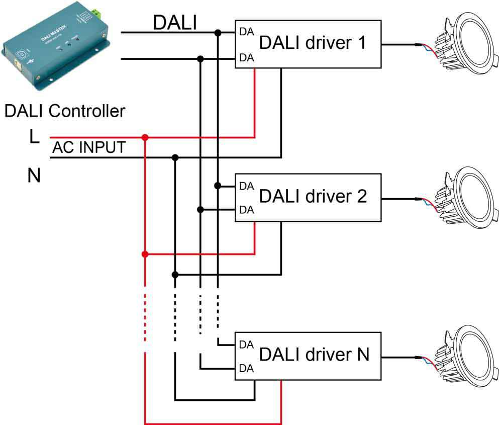 Touch Wiring Diagram Auto Electrical Dji Hot Selling High Quality Dali 30w Dimmable Led Driver