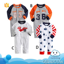 Sports Style new born baby clothes casual cool boys soft cotton star adult baby romper pattern