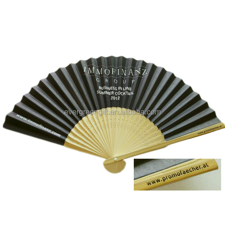Promotion gift manual <strong>bamboo</strong> hand fan