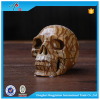 fashion natural carved stone skull for special offer