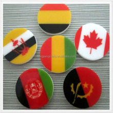 Promotion custom printing national flag plastic token coin
