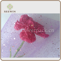 christmas deco mesh for flower pack- supply by China factory