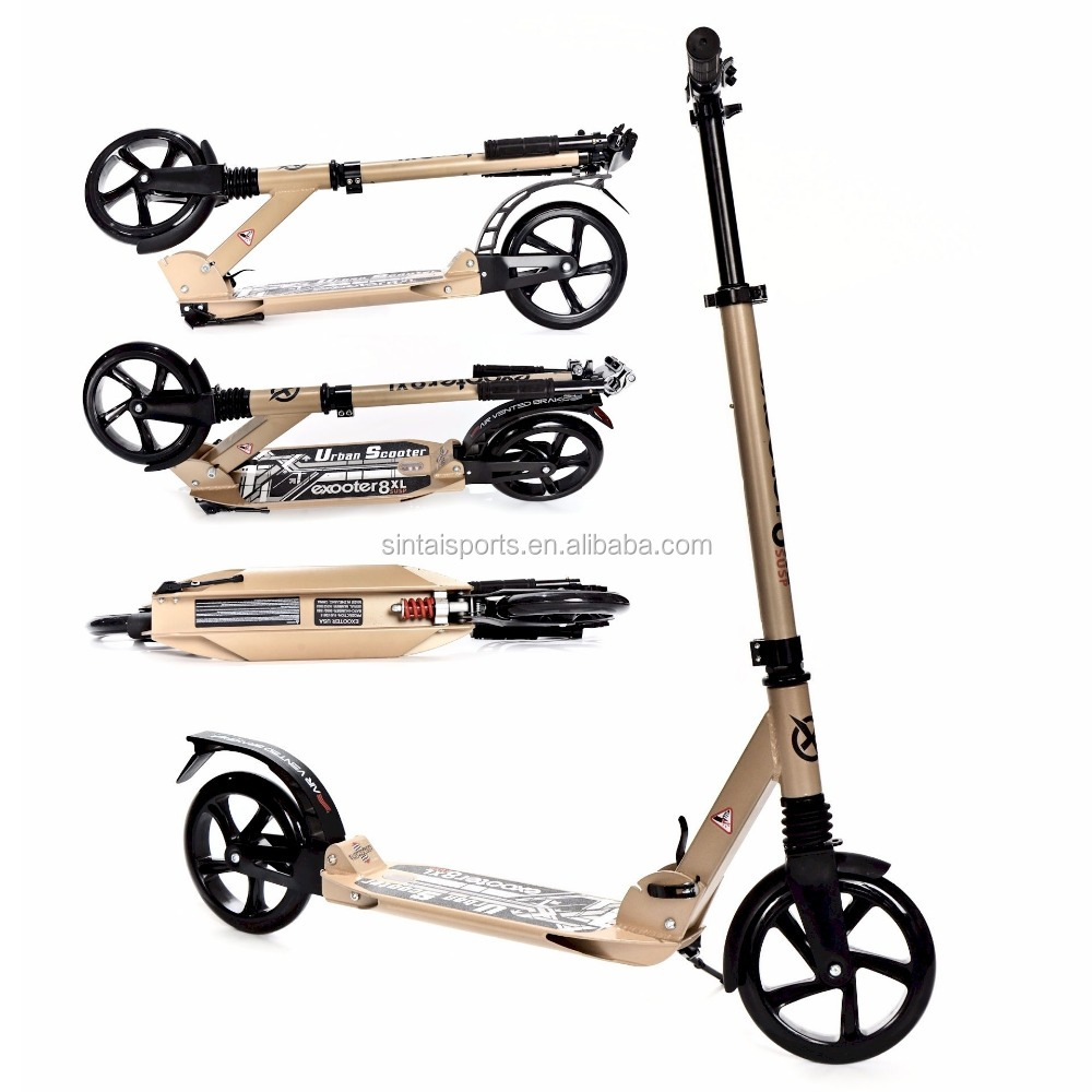 200mm Adult Cruiser Kick Scooter with Suspension Shocks