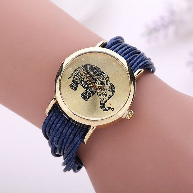 Relojes Mujer 2016 Fashion Women Dress Watch Elephant Design Bracelet Watch Women Montre Femme Quartz Watch Relogio Feminino