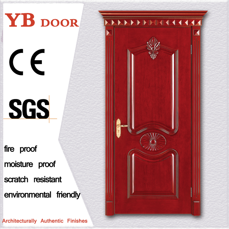 online shopping attractive house walnut wood anti fire door china solid wood doors entrance door design YBVD6035