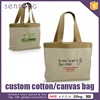 100% Cotton Grocery Shopping Bag Canvas And Leather Tote Bags