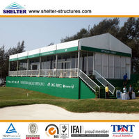Guangzhou ABS solid wall big warehouse canopy/deck tent for outdoor