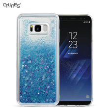 Luxury Bling Flowing Liquid Floating Glitter Sparkle TPU Bumper Case for Samsung Galaxy S8