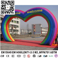 Cheap inflatable rainbow arch for entrance wedding arches