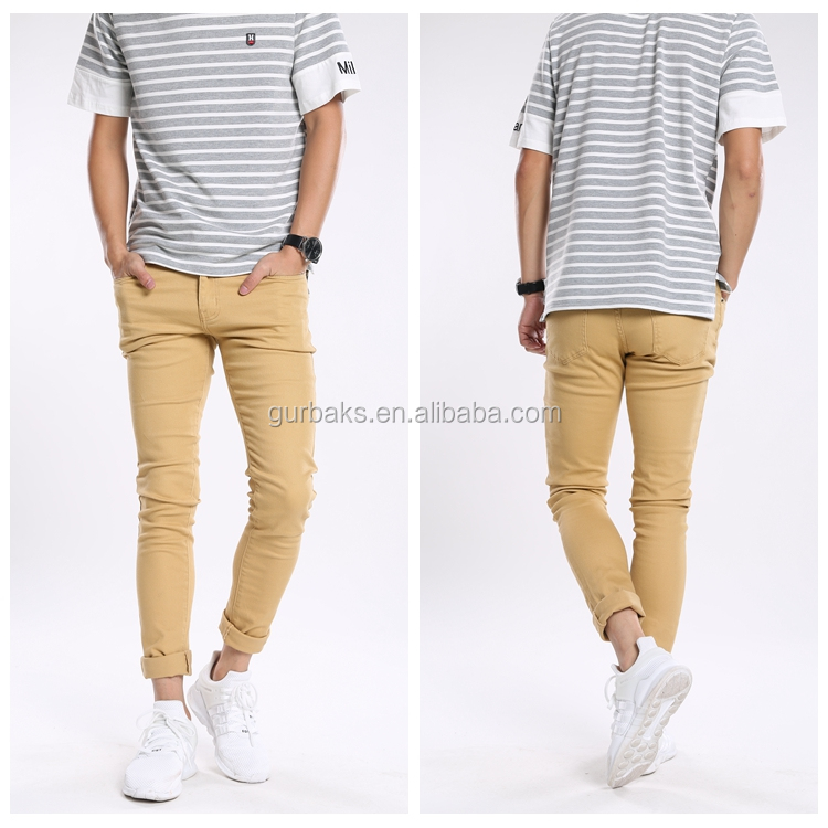 Own Customize Wholesale High Quality Men Clothing Skinny Jeans 2016