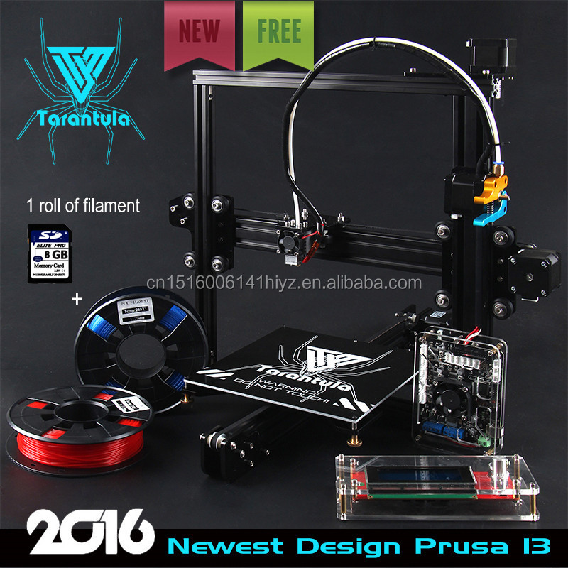 2016 Factory Price Auto leveling DIY 3d printer With 2 Rolls filament as gift Easy to control