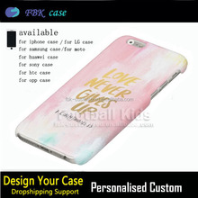 The Pledge of Love Mobile Cover For iphone 6s Case, OEM design PC Case For iPhone 6 Love Never Gives up Case