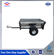 540kg Capacity 2 Wheel Small Stainless Steel Farm Tractor Tipping Trailer