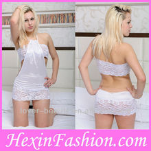 White Sexy Fashion Ladies Lingerie Babydoll Sex
