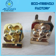 Plated golden bag hardware twist kiss lock closure