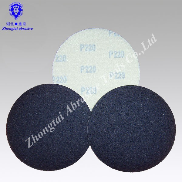 Factory Direct Sale Black 5 inch Silicon Carbide sand paper with hook and loop