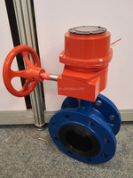 Center Line Double flanged butterfly valve with gear box drive