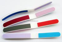 colorful magic four side nail file buffer plastic nail file buffer