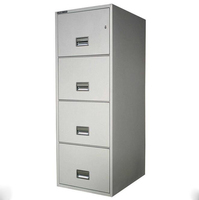 Horizontal anti-titl steel 4 drawer lateral filing cabinet
