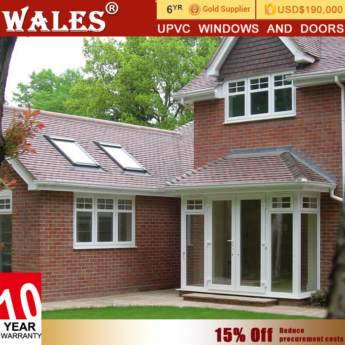 Back garden casement type white plastic upvc pivot entry doors
