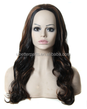 New Arrival Cheap Synthetic Ombre Wig 30 inch Long Wavy Hair mixed color