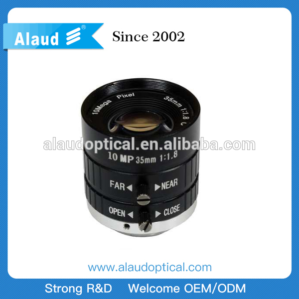 35mm 1'' manual iris machine vision lens for industrial camera