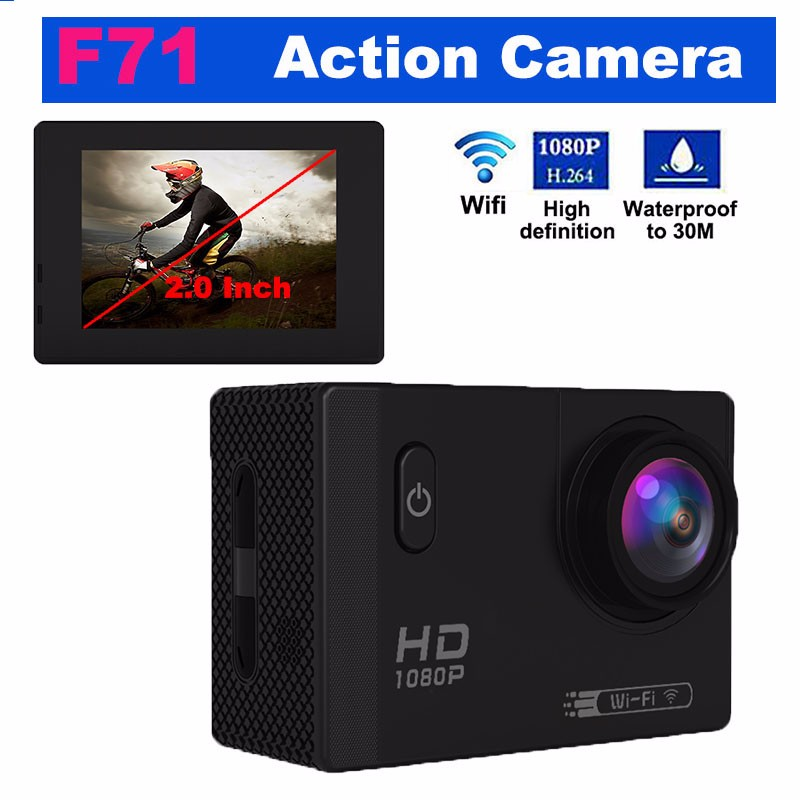Factory Wholesales F71 Cheap 1080P 2.0 inch Full HD Sport Cam WIFI