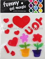 jelly colored alphabet window clings gel sticker