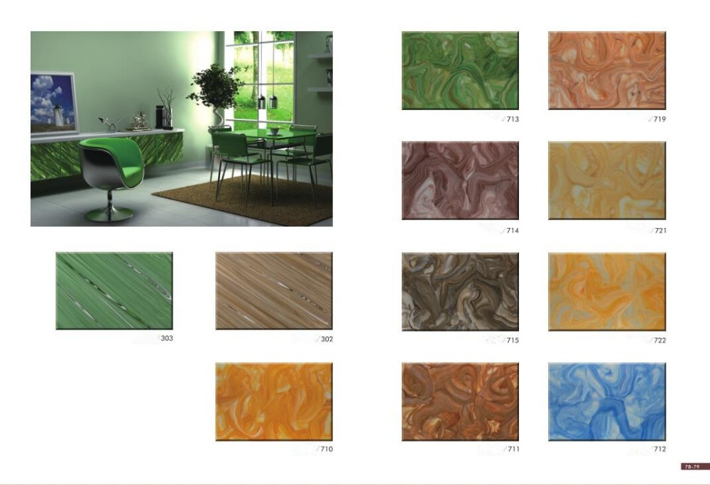Popular Acrylic Wall Decorative Alabaster Crystal Stone/ Transparent Stone