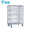800x600x1700mm Whole Sales Low Price Food Grade Wire Mesh Chrome Plated GRAY CAGE WITH WHEEL for Warehouse