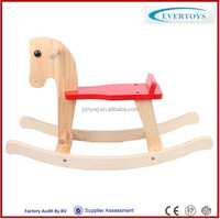 carved plush rocking horse with sound wooden rocking horse toy