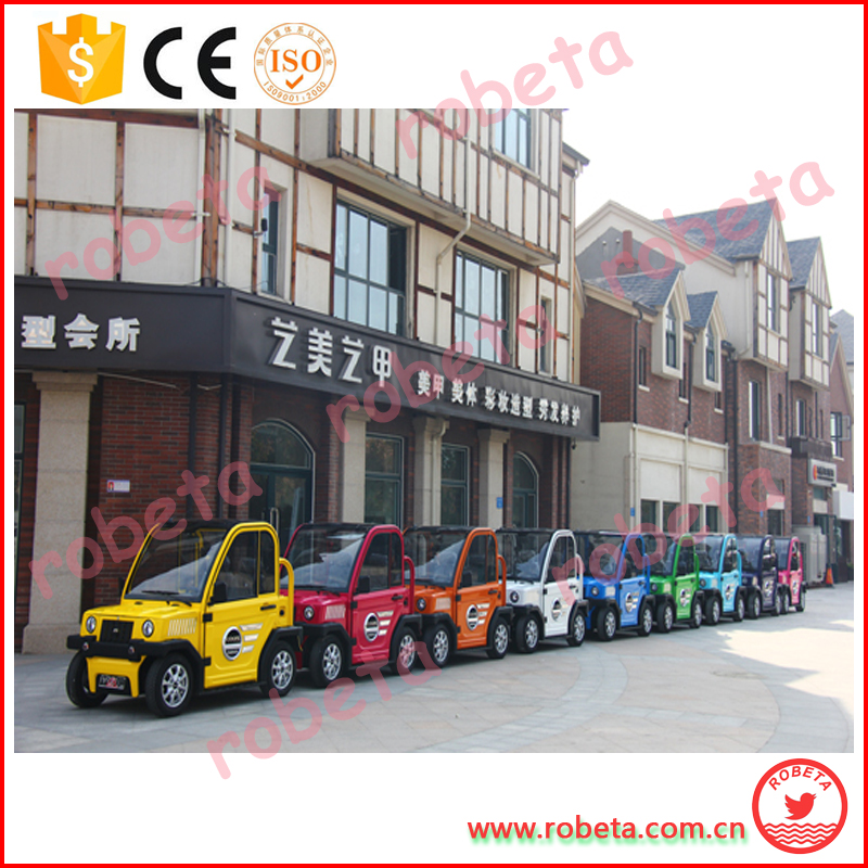 disable people use electric car with rubber tires