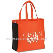 Non Woven Shop N' Zip Foldable Tote Bag with Gusset Zip Pouch