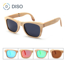 High quality polarised foldable wooden sunglasses custom brand on new for 2018