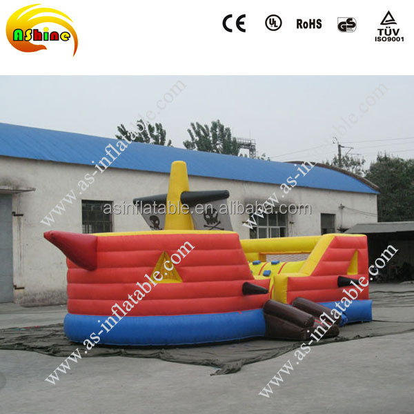 2017 New Giant inflatable pirate ship,pirate ship inflatable slide
