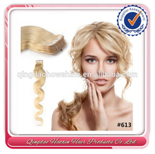 Qingdao Port Prompt Shipment Clear Band Tape Hair Extension