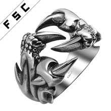 OEM and ODM Factory Cheap Wholesale Men Biker Skull Custom Made Stainless Steel Ring
