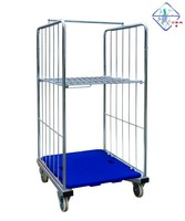 roll cage container shop store warehouse supermarket transportation cargo pallet trolley cart mobile cell N-1535 (2sides)