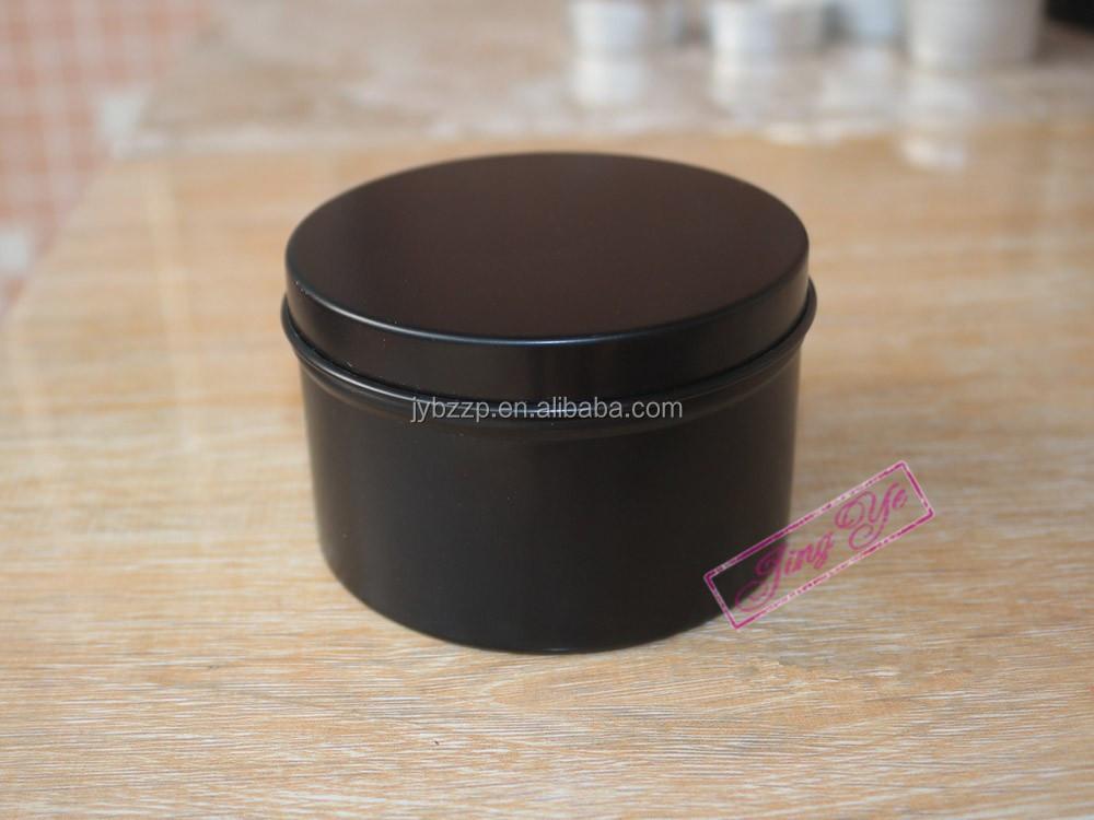 Stampati personalizzati 80x52mm 6 oz nero alluminio candela barattoli Produzione produttori, fornitori, esportatori, grossisti