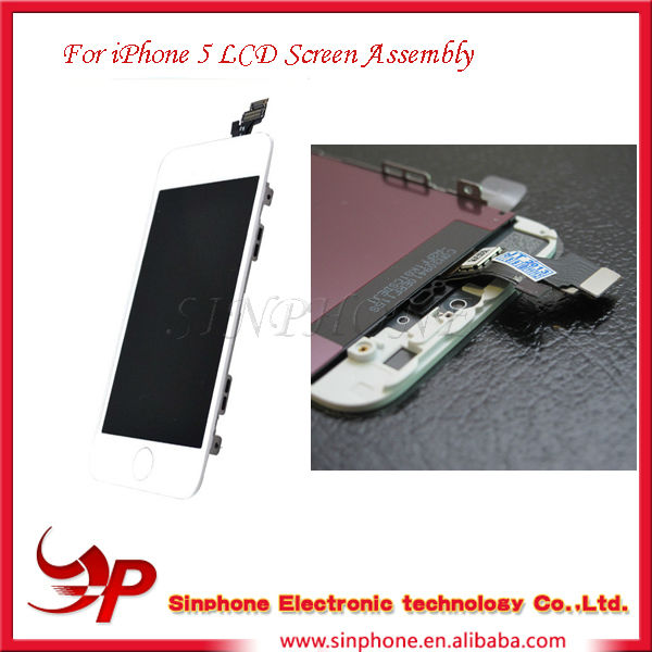 High quality original for apple iphone 5 lcd complete,For apple iphone 5 lcd touch screen assembly