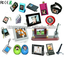 Different size digital pictue frames from pocket size 1.5 inch keychain style to large size digital photo frame 32 inch
