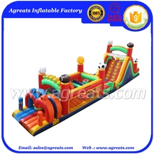 Commercial inflatable jumper add sport ball ,factory outlet best giant inflatable obstacle course on sale G5028