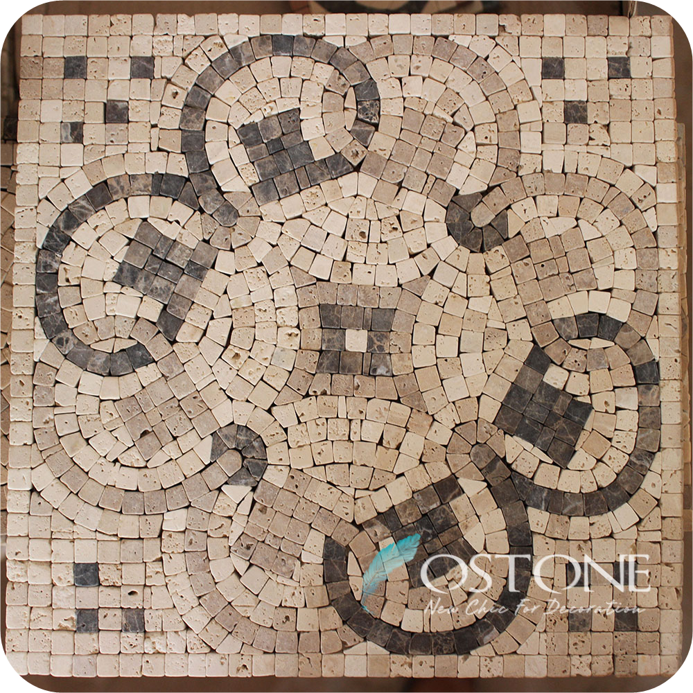 Cheap Discount Natural Stone Marble Mosaic Floor Tile Medallions