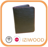 BSCI standard leather rfid passport wallet