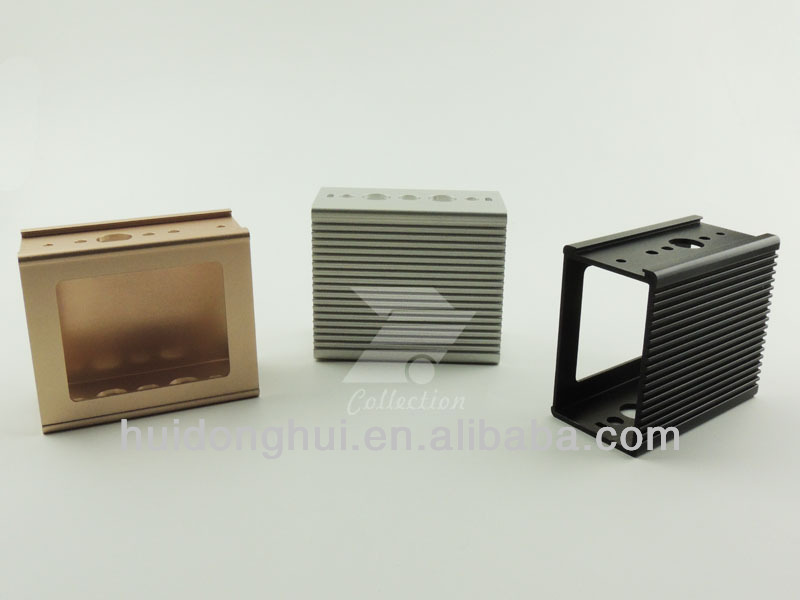 2014 new Aluminum extrusion enclosure with Anodizing different color for Communication Switch inverter converter box housing