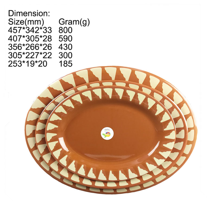 High Quality Factory Wholesale Cheap Custom Print Round Shape flat Hotel Restaurants 100% Melamine Dinner Plate