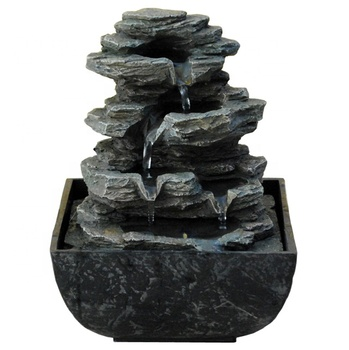 mini rockery waterfall tabletop small water fountain decor