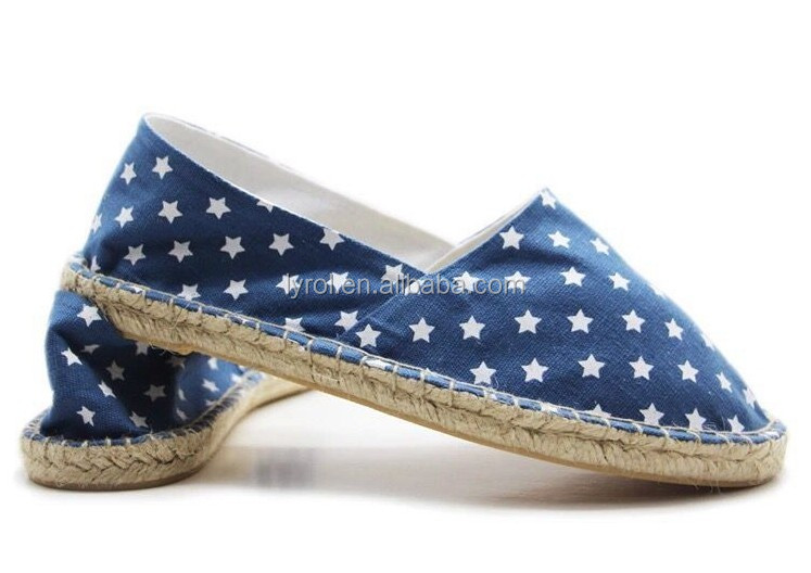 Cheap shoes wholesale lady shoes 2016 summer flat espadrilles women star printed canvas shoes